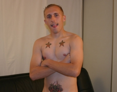 Sexy skinny guy rocking with his cock out!